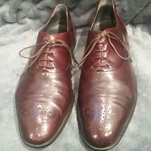Other - Paolo Leone Genuine Leather Cap Toe Oxford Shoes